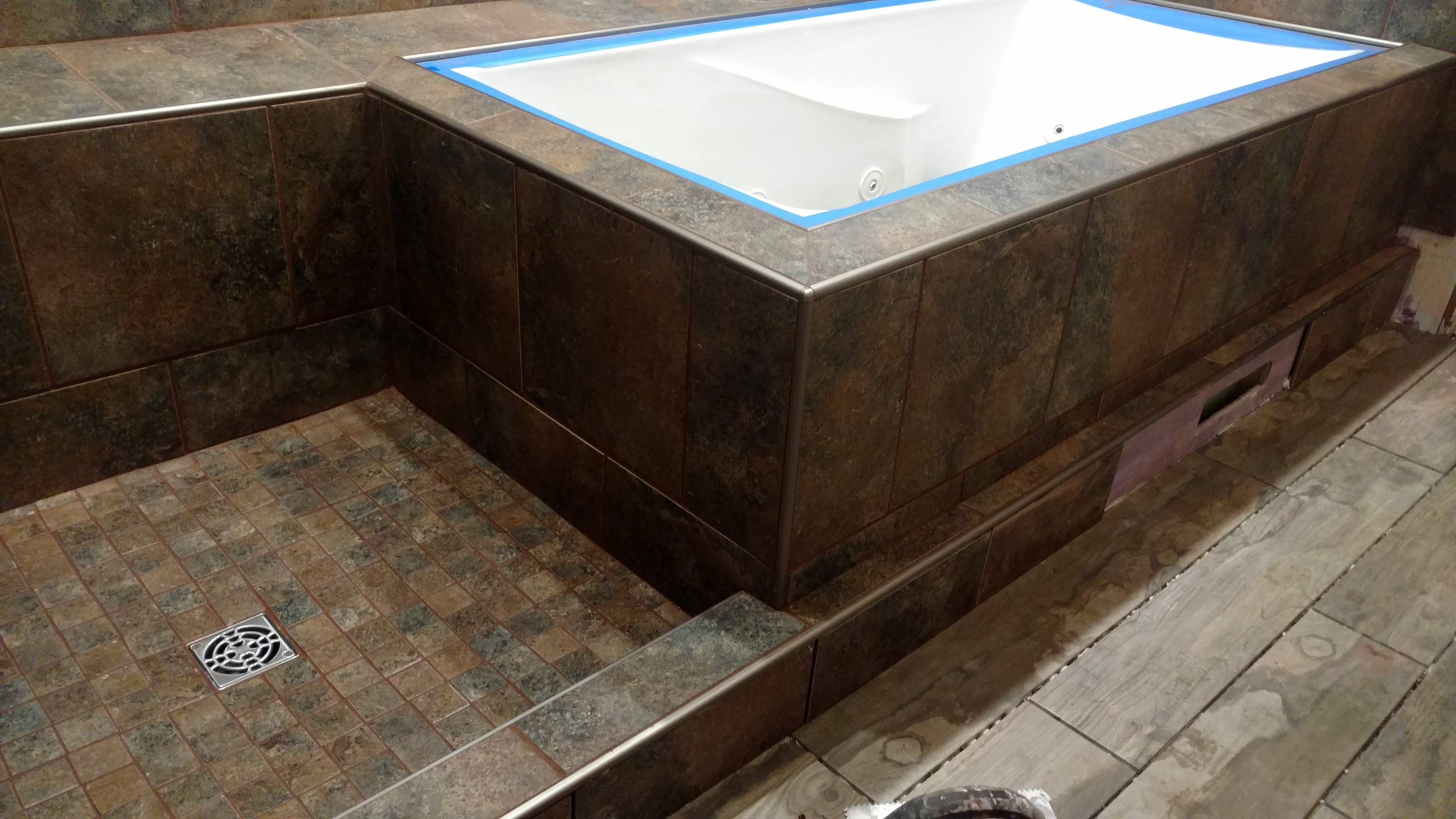 Cutting 12x24 floor tile into shower floor tile tiling cutting 12x24 floor tile into shower floor tile dailygadgetfo Choice Image