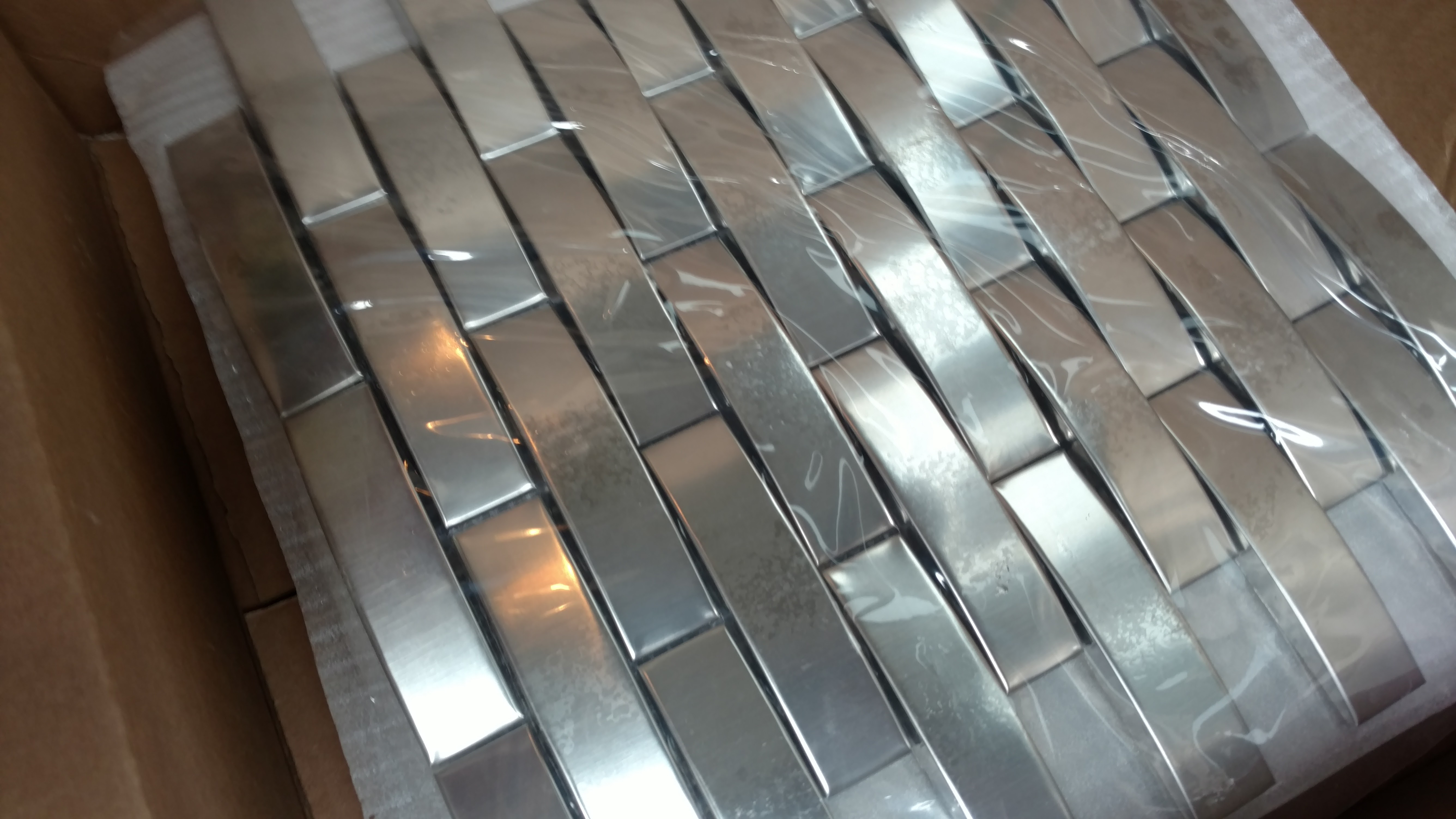 Best way to cut metal capped mosaic sheets tiling contractor talk best way to cut metal capped mosaic sheets img20160523181334309g doublecrazyfo Gallery