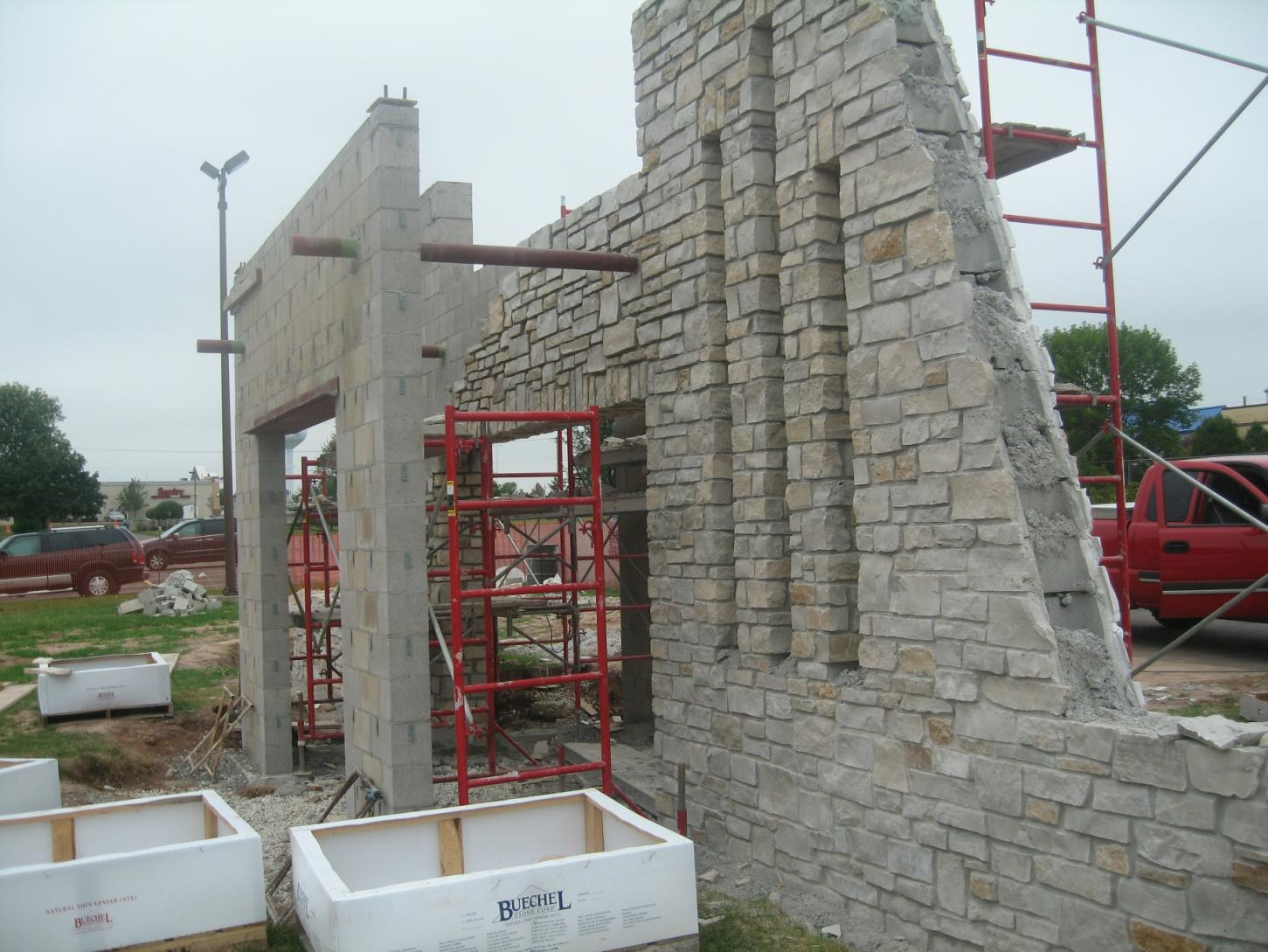 Adhering 3 4 Quot 1 Quot Thick Natural Stone To Untreated Cinder