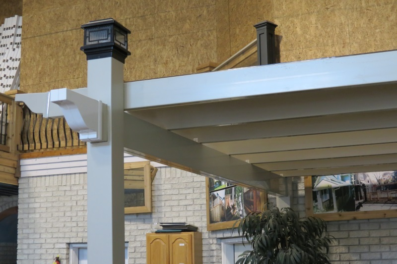 Pvc Lattice On A Pergola Roof Decks Amp Fencing