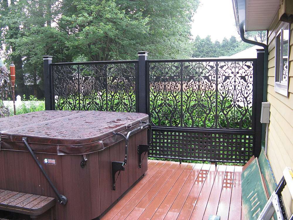 Privacy Panel For Hot Tub On Deck