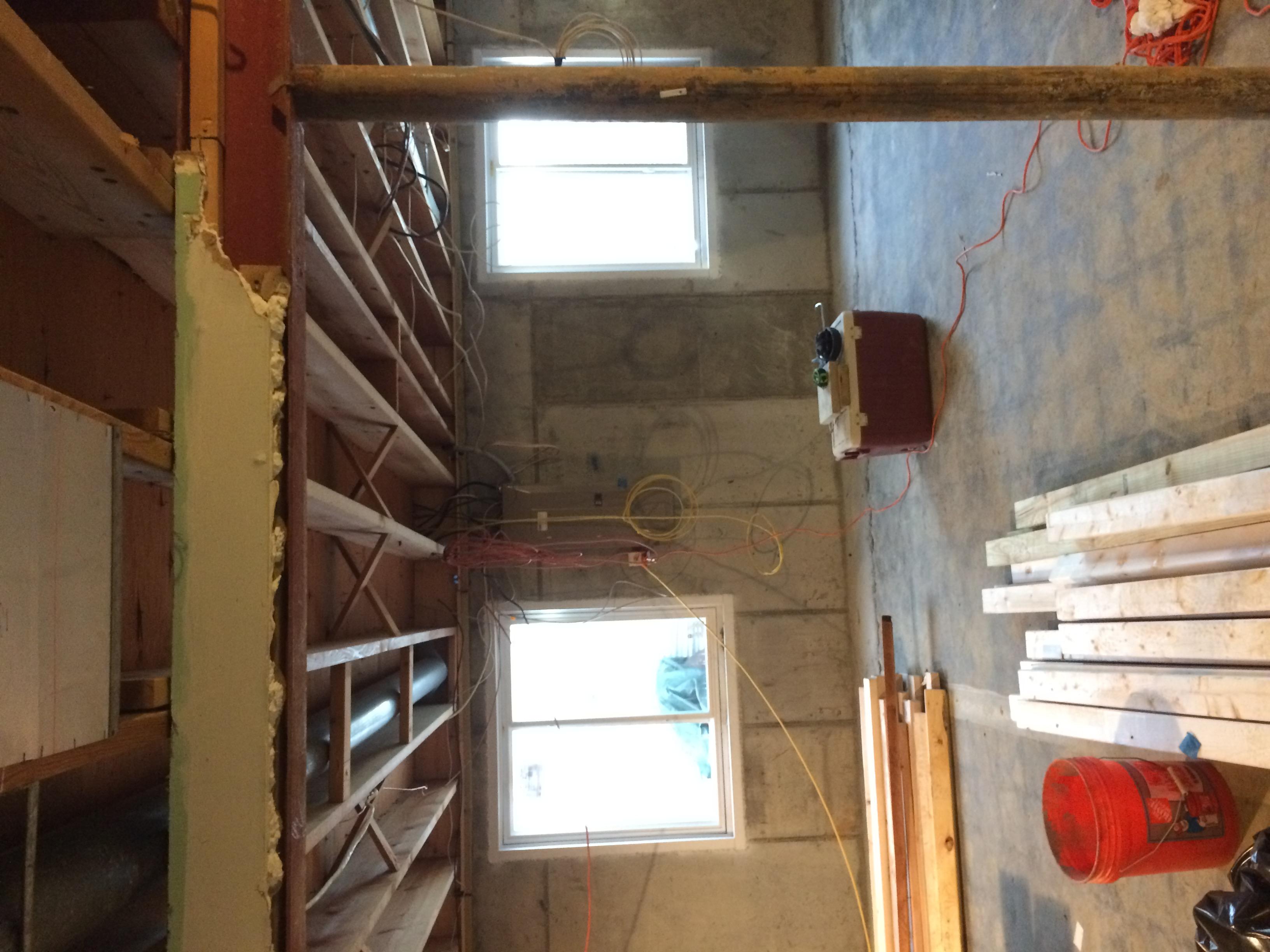 Lighting Basement Washroom Stairs: Moving Basement Stairs