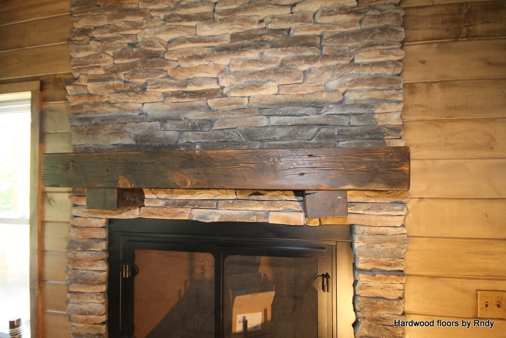 Finishing And Sealing A Barn Beam Mantle Piece Finish