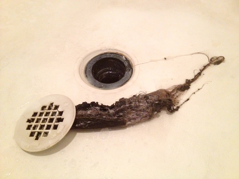 my wife commented on the slowness of the shower drain