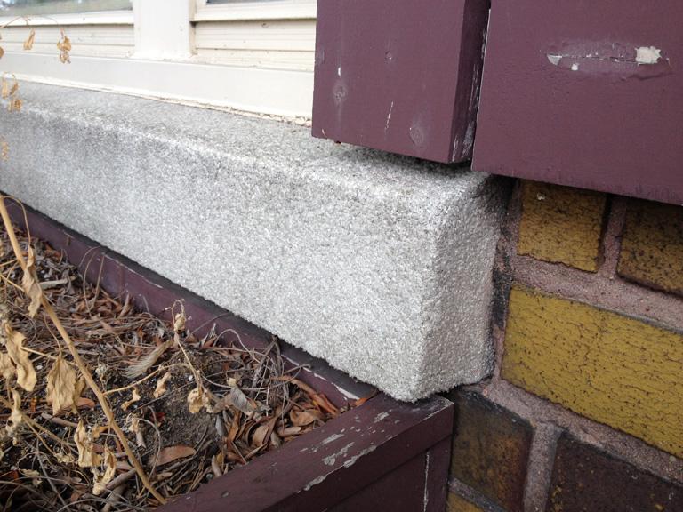 Replacing 1920u0027s Concrete Sill With Quartz Or Pebble Finish