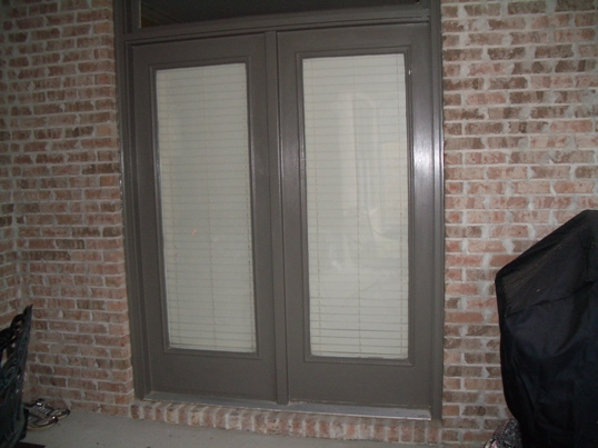 Double French Doors, No Hinges, Client Wants 1 To Open