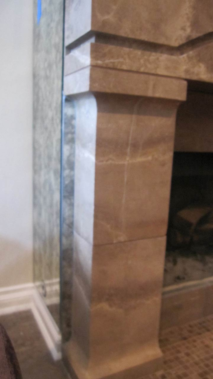 Antique Mirror Install To Fireplace Surround Specialty