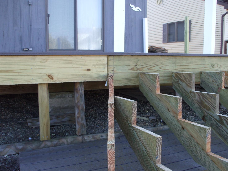 framing help for inside corner stairs decks fencing