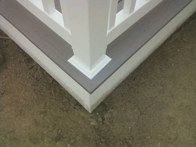 Composite Mitered Stair Treads Screw The Miter Decks