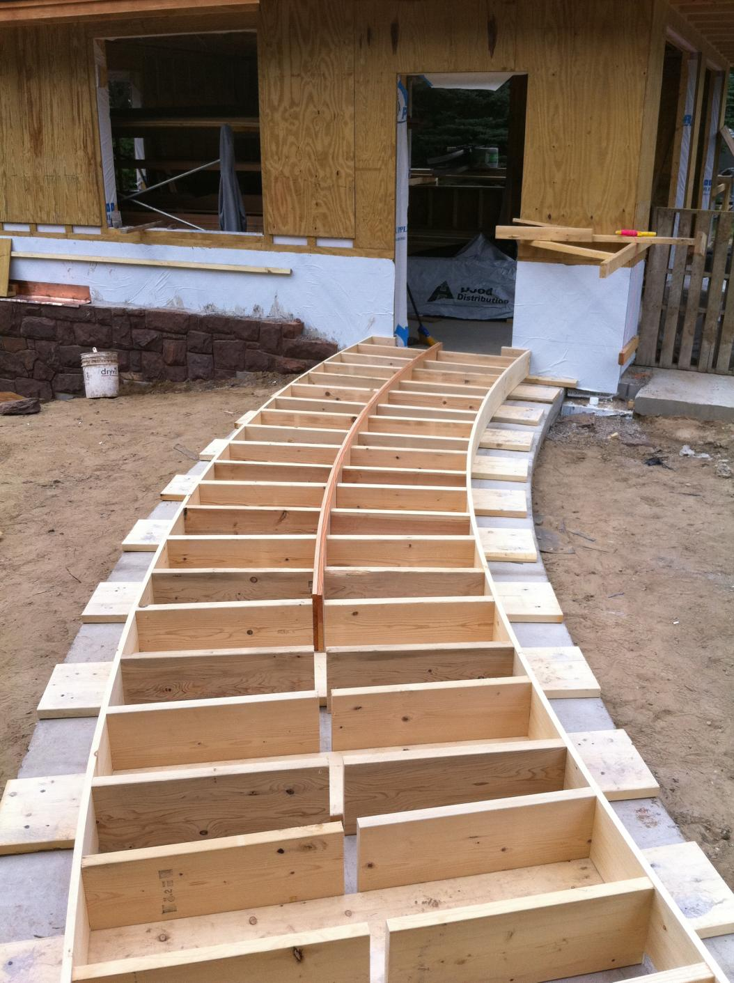 Wood Walkways Easy To Build : Chapter build a curved wooden walkway summer