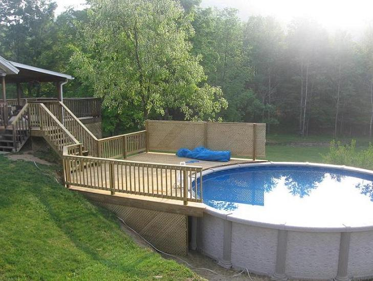 How long would this deck take to complete decks for Pictures of decks around pools