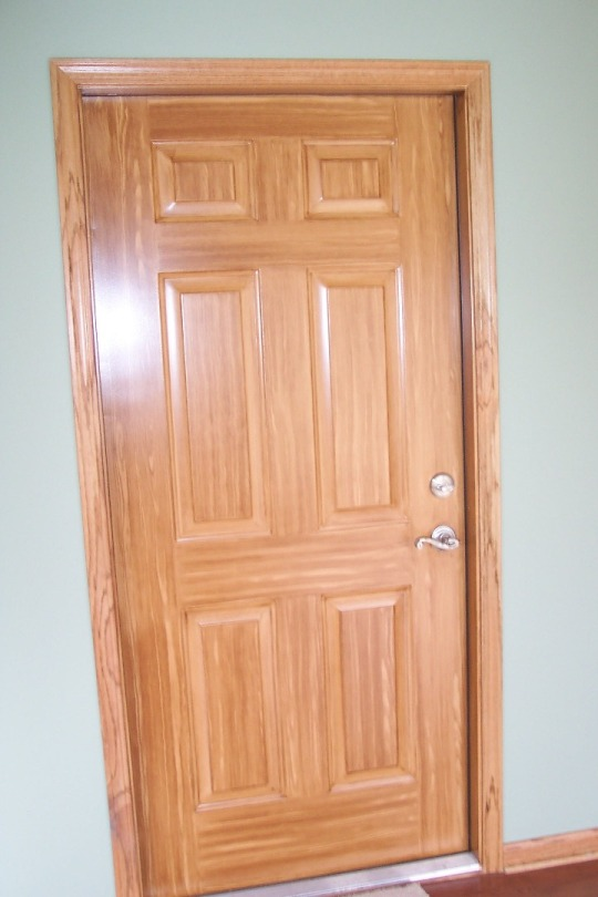 Door Staining How To Refinish An Exterior Door Using Gel Stain