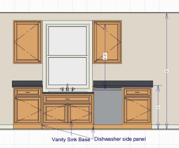 Kitchen Sink Window Lower Than Countertop Dropped Jpg