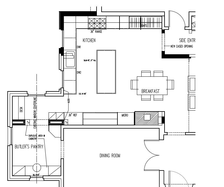 Meridian kessler kitchen addition and master bath for Kitchen addition plans