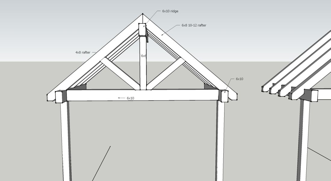 "Post & Beam Style Entry ""Truss"" - Framing - Contractor Talk"