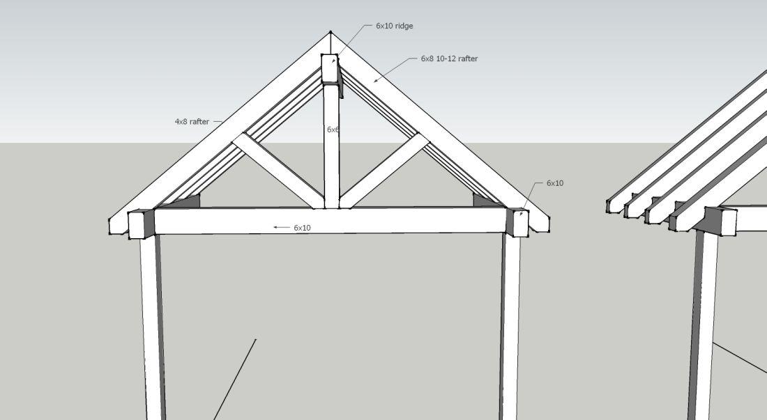 "attic floor deck ideas - Post & Beam Style Entry ""Truss"" Framing Contractor Talk"