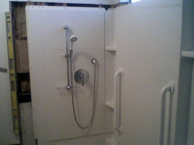 Installing Grab Bars In Fibergl Tub Mak 6 Rough Shower Jpg