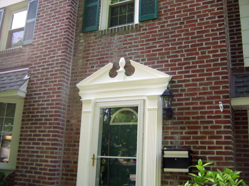 Door pilasters show sc 1 st exterior solutions for Exterior window pediments