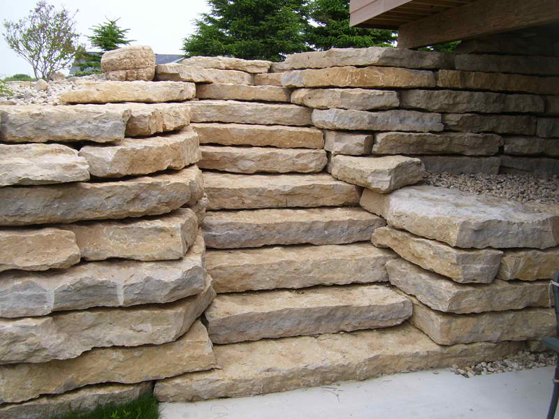 Stone Stairs Next To  Stucco Mill_creek_outcroppings_and_steps2__76988_zoom