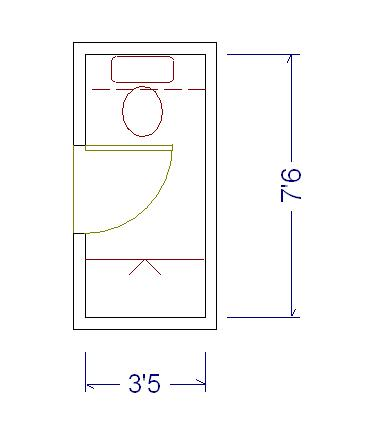 Minimum powder room dimensions architecture design for Powder room layout