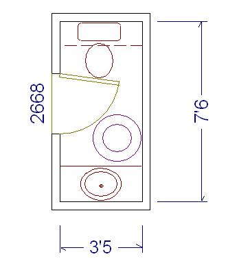 minimum powder room dimensions architecture design