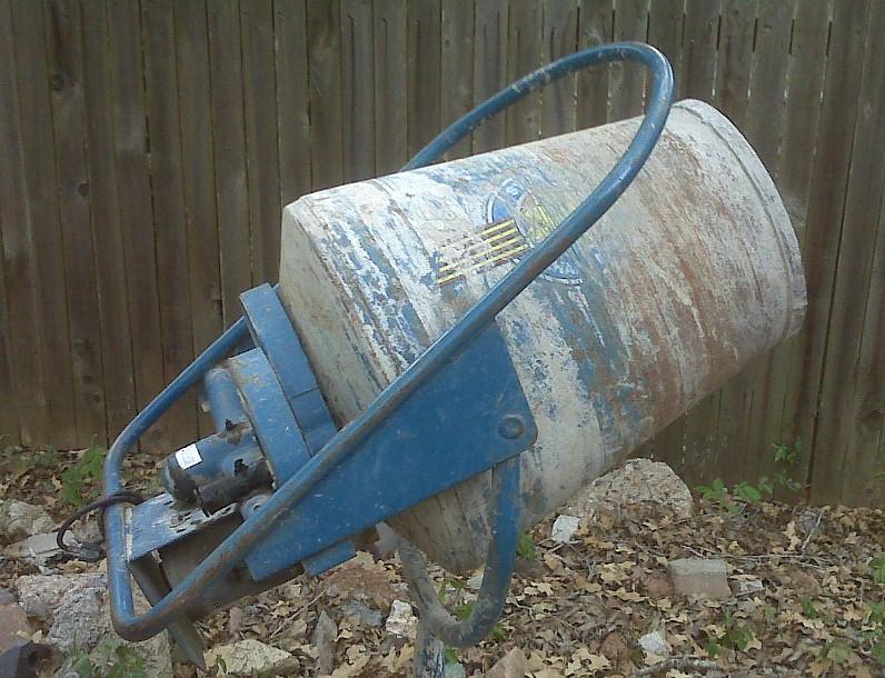 Build Your Own Cement Mixer ~ Diy concrete mixer plans do it your self