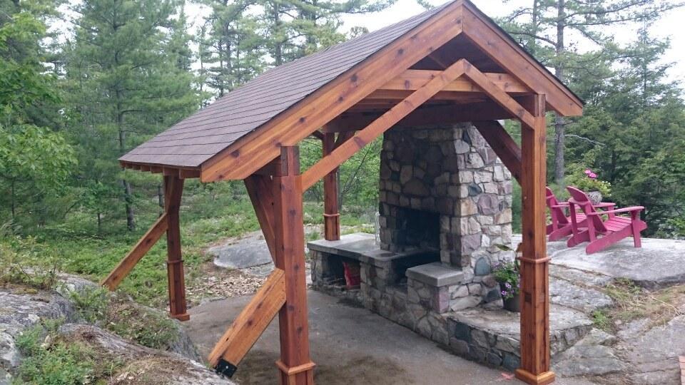 Rough Cut Cedar Pergola Picnic Shelter Decks Amp Fencing