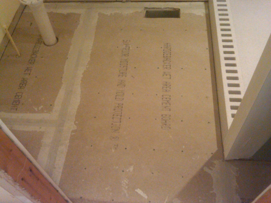 Installing backerboard for tile floor