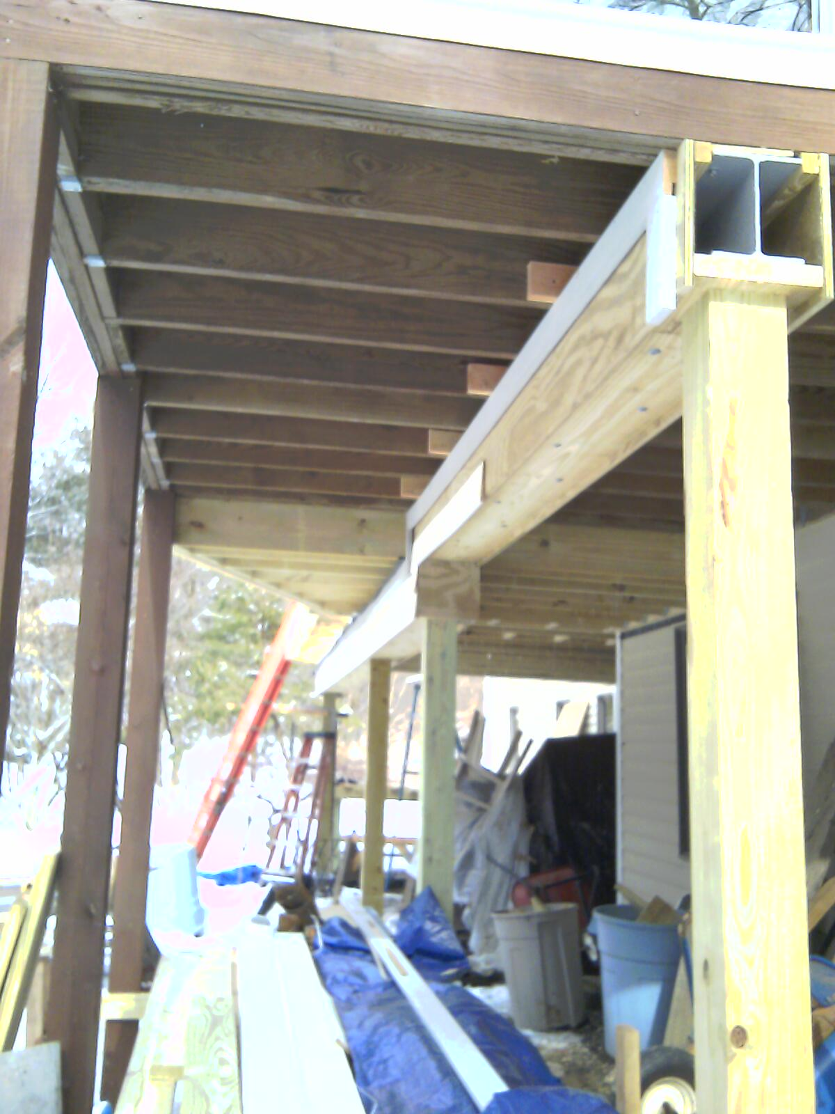 Deck On Steel Beam Decks Amp Fencing Contractor Talk