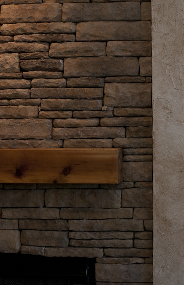 Manufactured Stone Over Textured Drywall Masonry