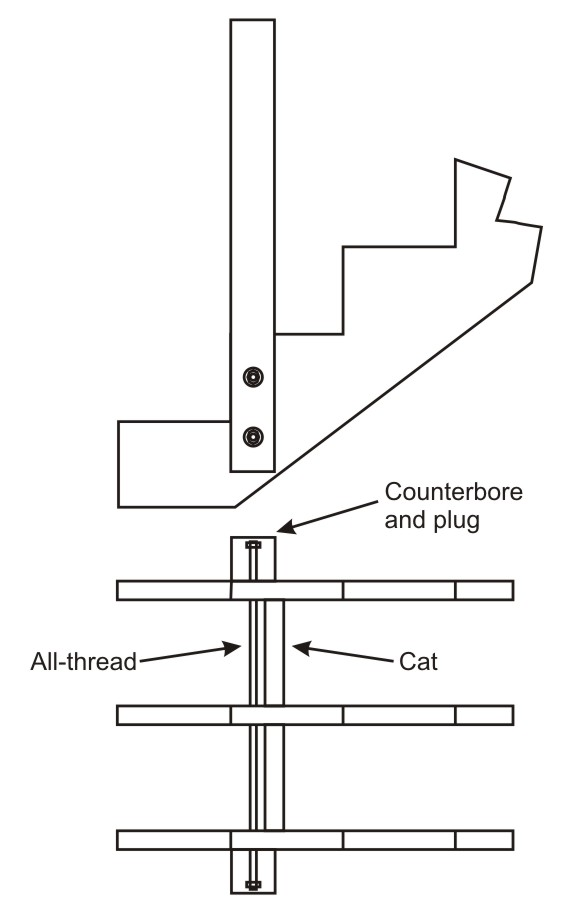 Solid Newel Post For Floating Deck Stairs
