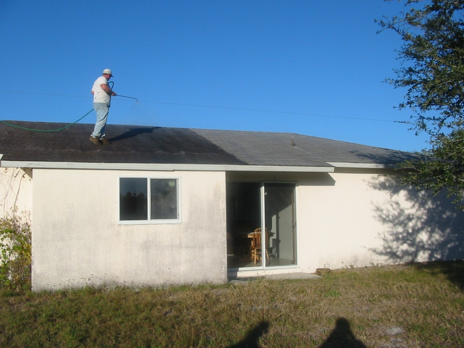 ... Exterior House Cleaning Solution Old Shingle Roof Non Pressure Cleaning  ... Part 46