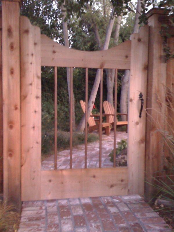 Sag free gate on a budget-our-gate.jpeg
