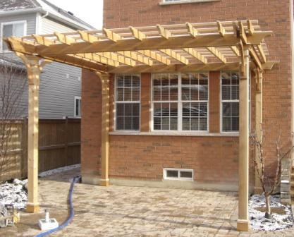 Just Completed Pergola Landscaping Picture Post