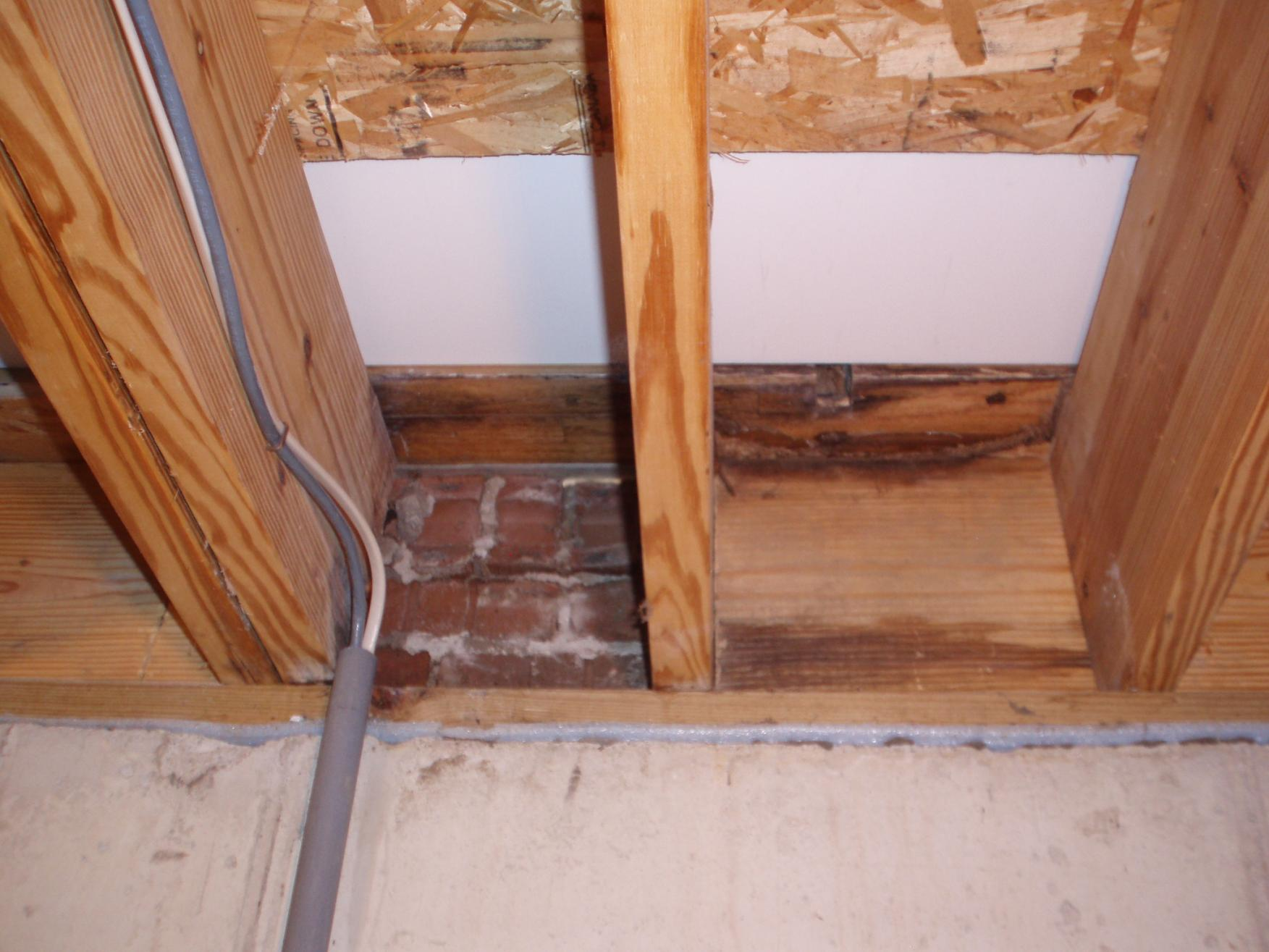 Replacing Rotted Rim Joist Entry Door First Timer