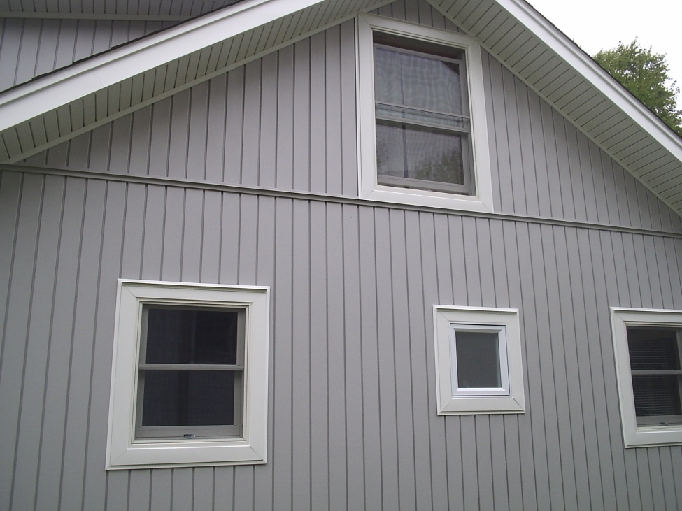 Vinyl board and batten siding questions windows siding for Vertical house siding pictures