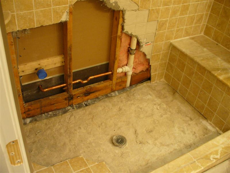 Re tiling bathroom floor