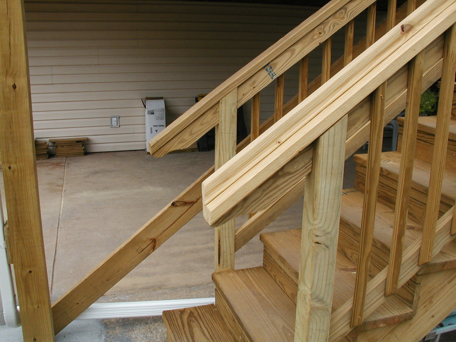 Newel Post Attachment And Notching Same Decks Amp Fencing