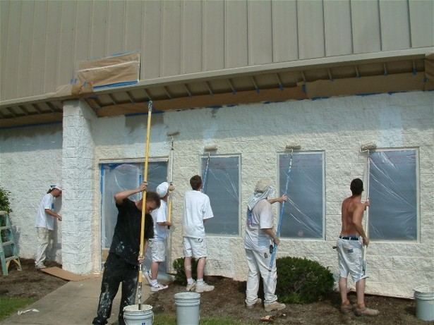 Exterior commercial reapint pics painting finish work picture post contractor talk Exterior commercial painting