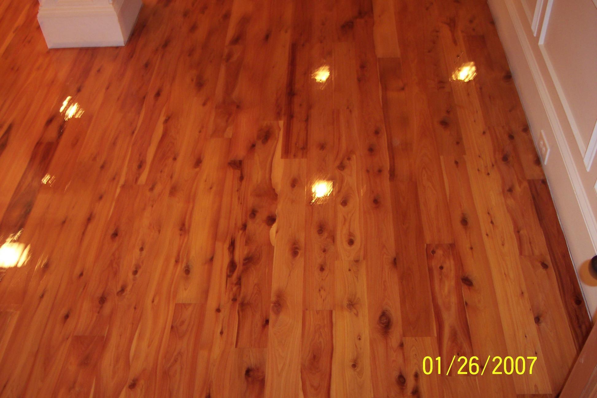My new wood floor is in i hate glue down floors for Australian cypress hardwood flooring reviews