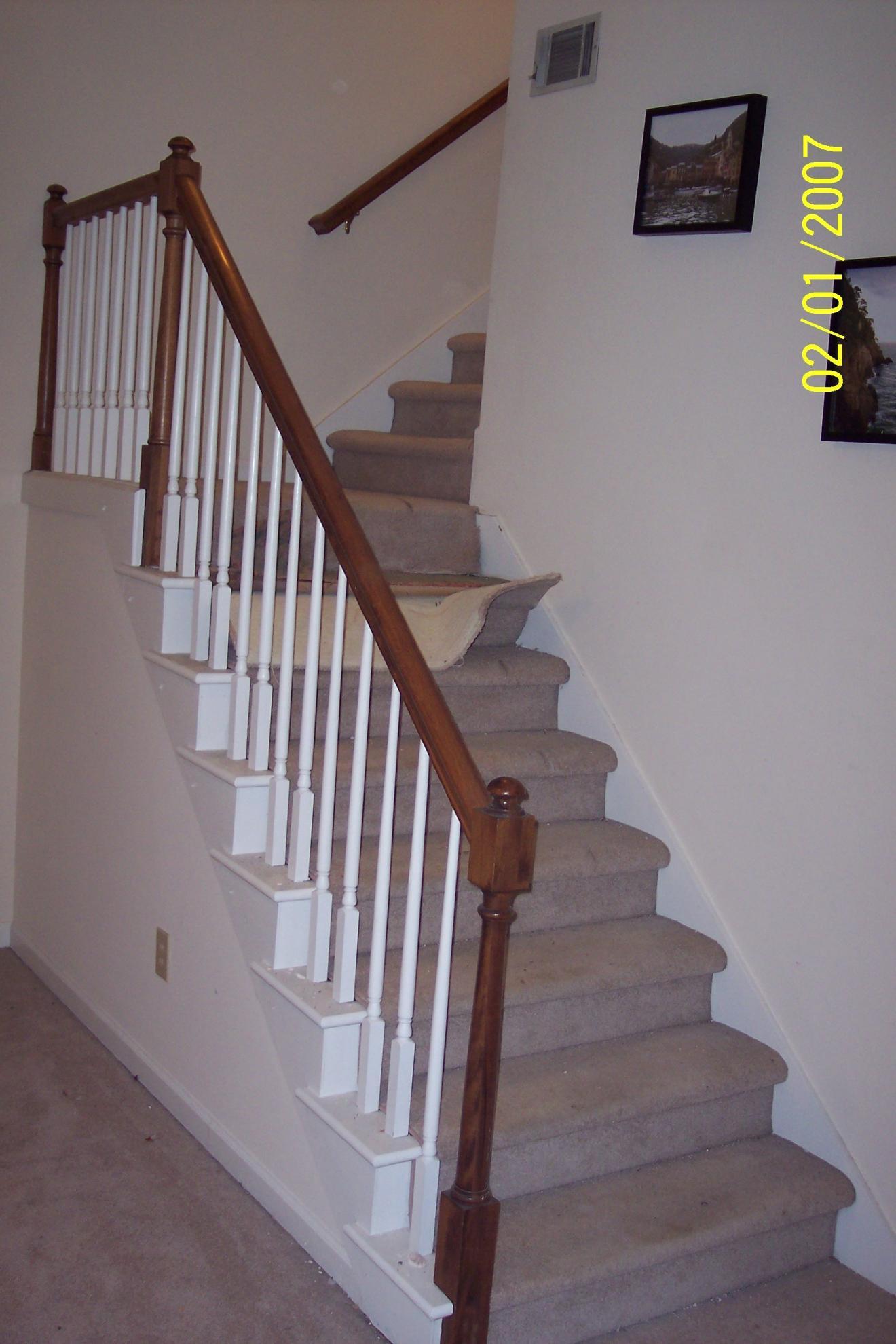 stair tread remodel carpet runner flooring contractor talk. Black Bedroom Furniture Sets. Home Design Ideas