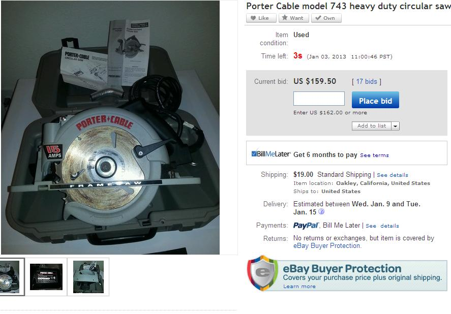 Porter Cable Model 743 Blade On The Left Circular Saw Tools Equipment Contractor Talk