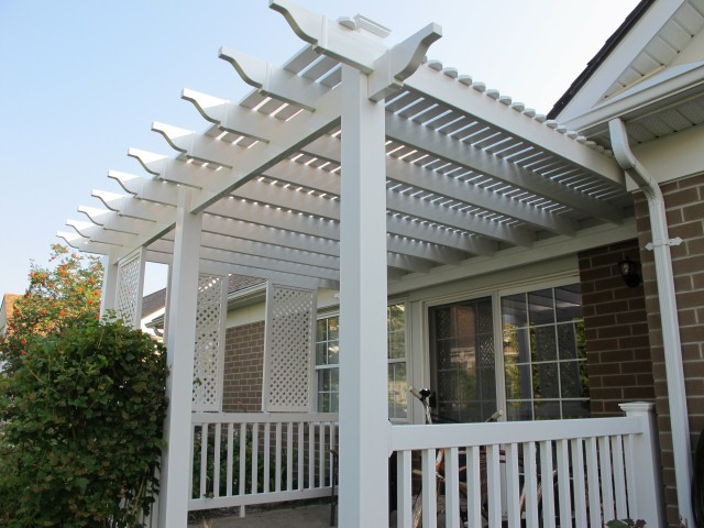 Pvc Lattice On A Pergola Roof Page 2 Decks Amp Fencing