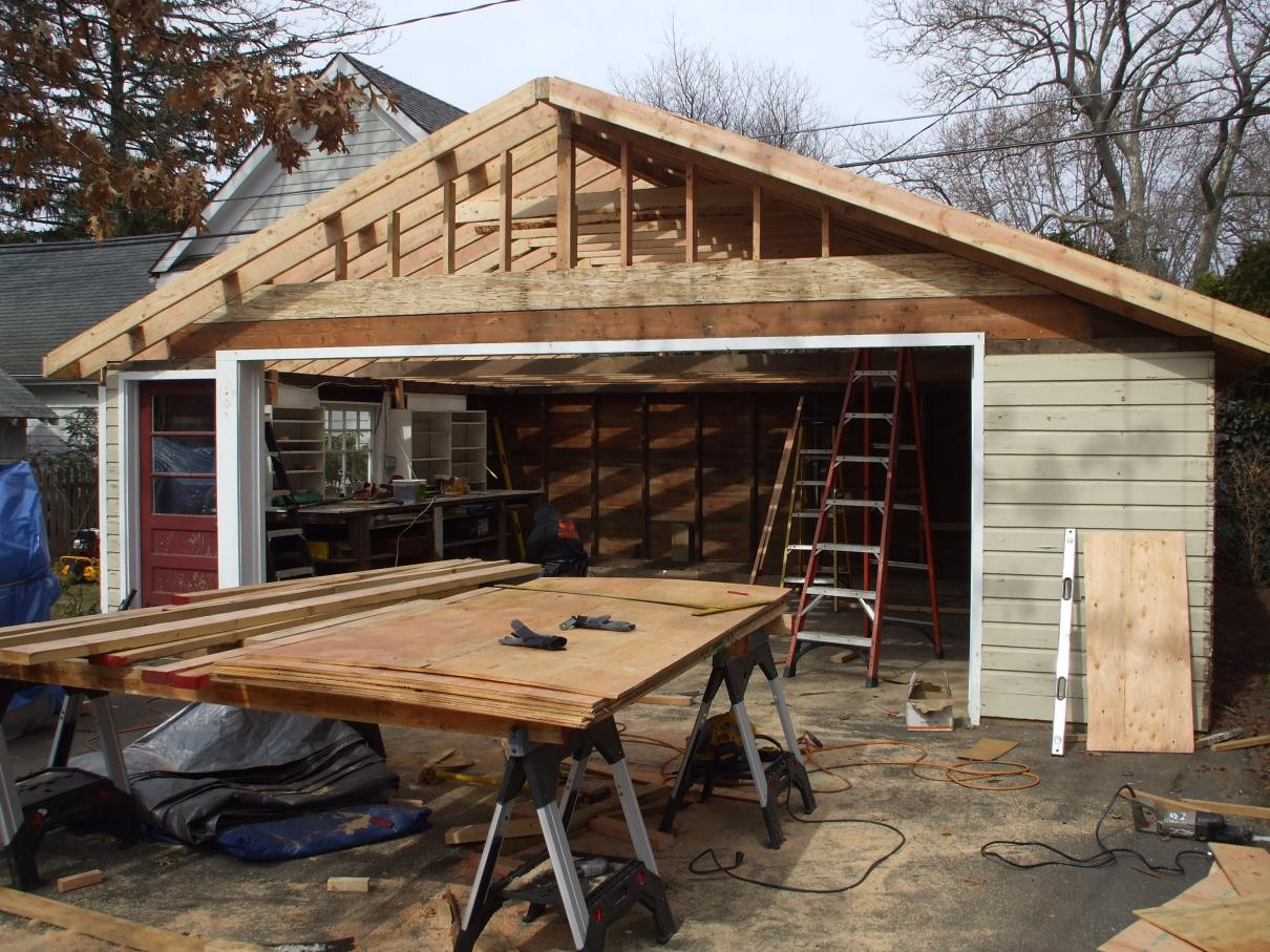 Collar ties for garage roof carpentry contractor talk for Cupola for garage