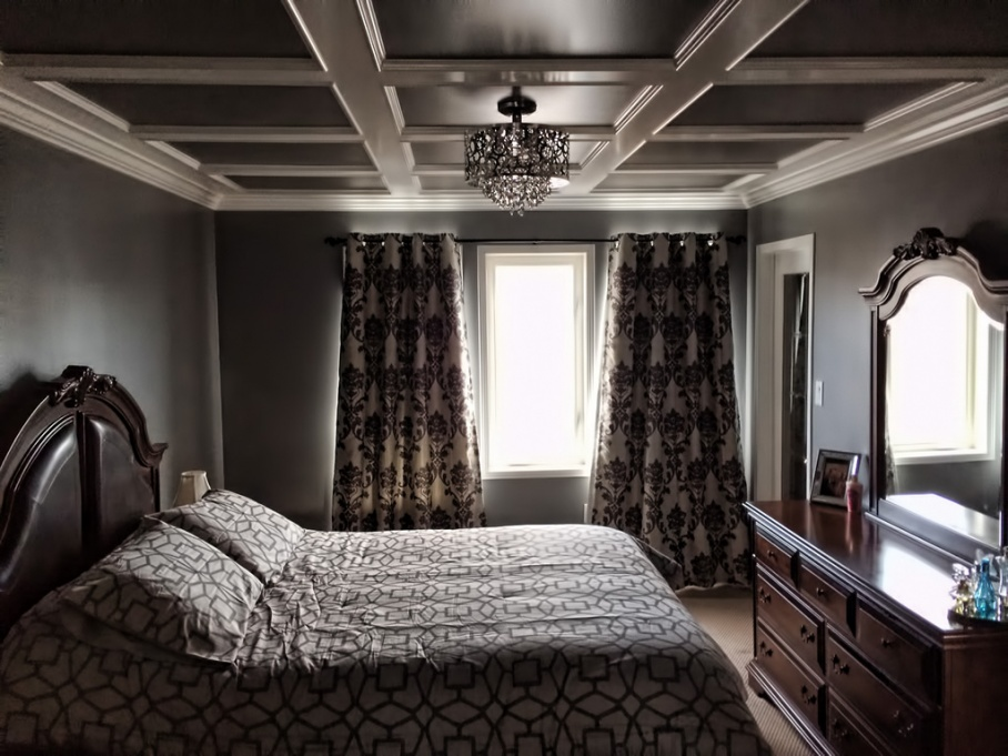 bedroom coffered ceiling carpentry picture post contractor talk