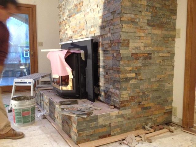 Slate Fireplace - Tiling - Contractor Talk