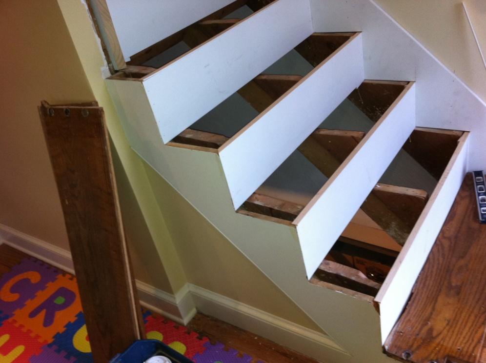 Holy Cow....an Indoor Project!! Finished Stairs