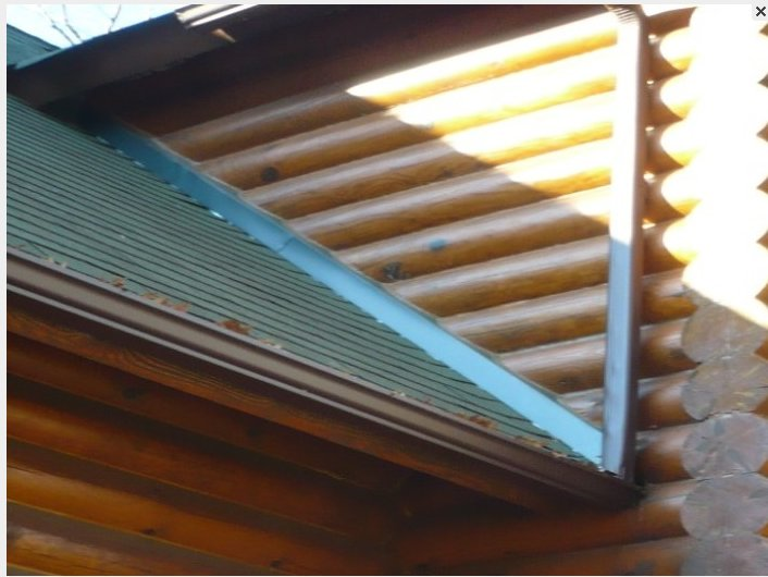 Flash Roof To Kit Log House Wall Roofing Contractor Talk