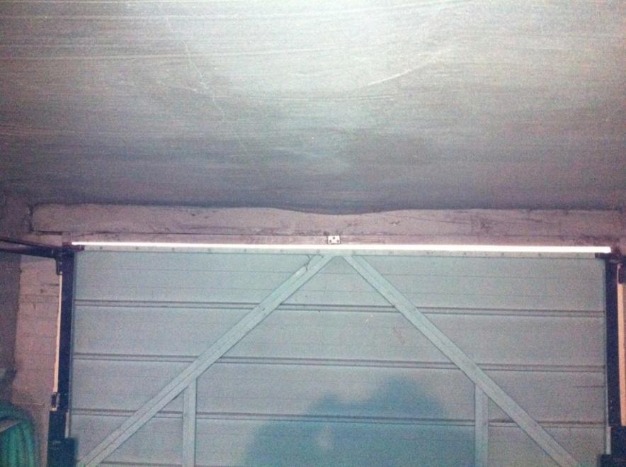 sagging garage door header 2