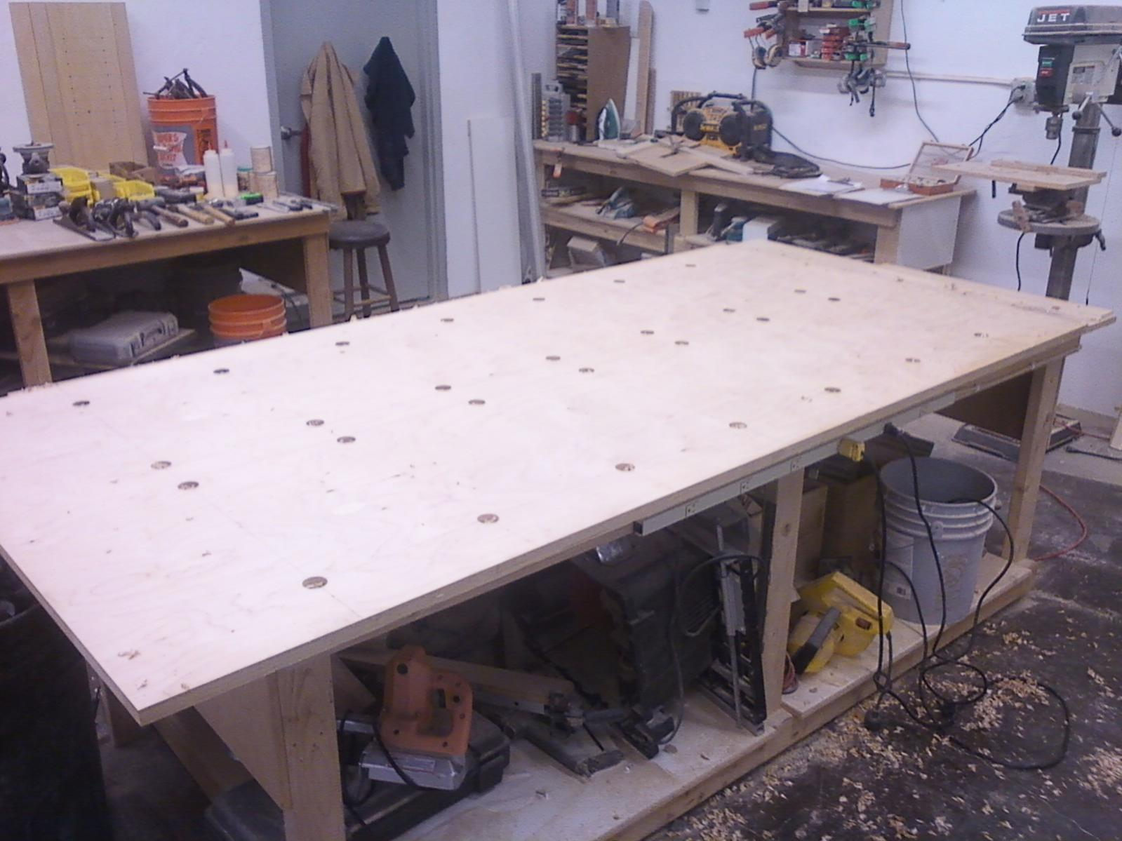 Shop Made, Face Frame Assembly Table - Finish Carpentry - Contractor ...
